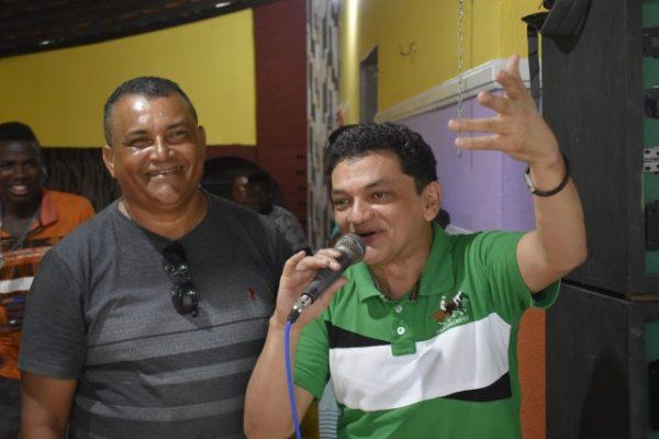 Vereador Professor Noir e o Prefeito Claudio Cunha de Apicum-Açu