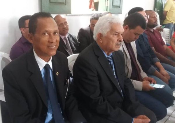 Vereador Adaildo Borges durante evento de apresentação da patrulha mecanizada