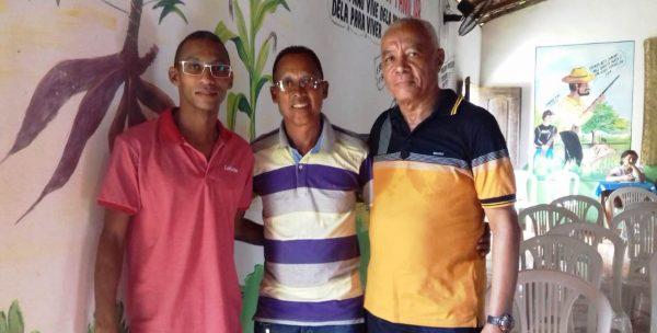 Professor Paulo Henrique, Vereador Adildo Borges e Francisco Bastos