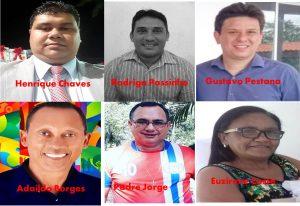Henrique Chaves, Rodrigo Passinho, Gustavo Pestana, Adaildo Borges, Padre Jorges e Euzirene Costa,