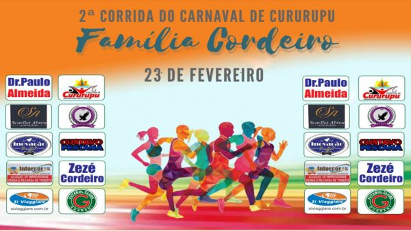 Corrida de Carnaval de Cururupu Família Cordeiro - Apoio Gustavo Pestana