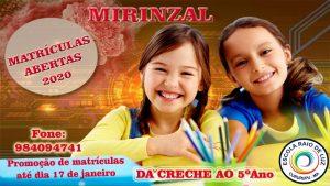 Escola Raio de Luz em Mirinzal