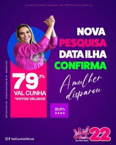 Pesquisa DataIlha confirma favoritismo de Val Cunha em Serrano.