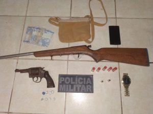Operação Policial culmina em apreensão de duas armas de fogo e drogas em Bacuri