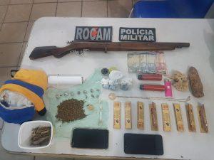 25º BPM Apreende arma de fogo e grande quantidade de drogas em Cururupu-MA