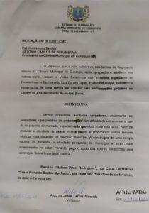 Indicação Nº 003-2021-CMC - Vereador Aldo Ferraz - PP