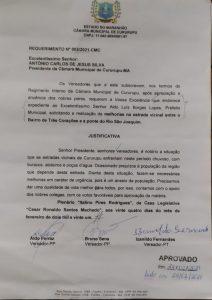 Requerimento Nº 003-2021-CMC - Vereadores Aldo Ferraz - PP, Bruno Sena - PP, e Izanildo Fernandes - Zito - PT