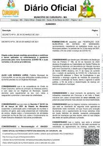 DECRETO Nº19, DE 05 DE MARÇO DE 2021 página 01