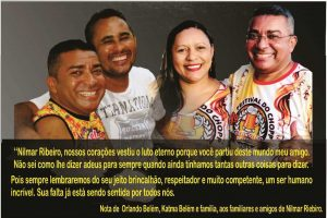 Orlando e Katma Belém emitem nota de pesar pelo falecimento do amigo Nilmar Ribeiro.