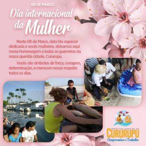 Prefeito Aldo Lopes faz homenagem às mulheres cururupuenses durante