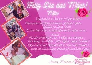 Feliz Dia das Mães Homenagem da Professora Rosinha