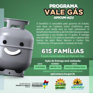 """Lista com todos os contemplados do programa """"Vale Gás"""" está disponível no site do município"""