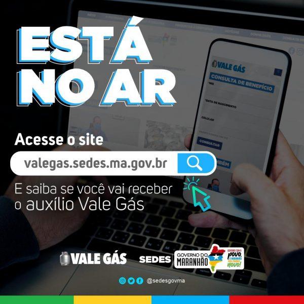 Já está no ar o site do Vale Gás irá beneficiar 115 mil famílias no Maranhão