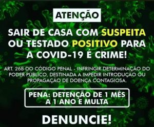 DENÚNCIA: Populares alertam que suspeitos de estarem com covid-19 estão desrespeitando isolamento.