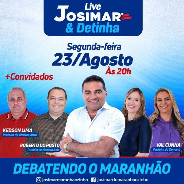 Prefeita Val Cunha participará da live de Josimar e Detinha.